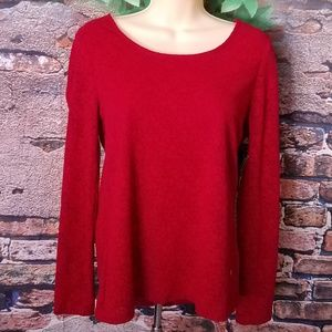 Red Lined Lace Outside Overlay Top